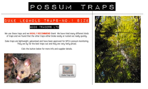 Duke Possum Traps